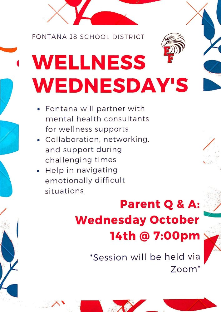 Parent Wellness Wednesday 10/14