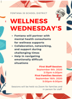 Parent Letter & Wellness Wednesday's