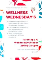 Parent Wellness Wednesday 10/28